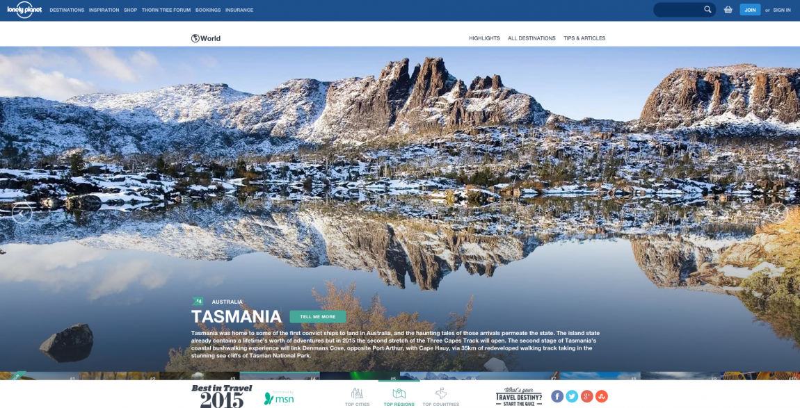 top 10 regions a visiter en 2015 tasmanie