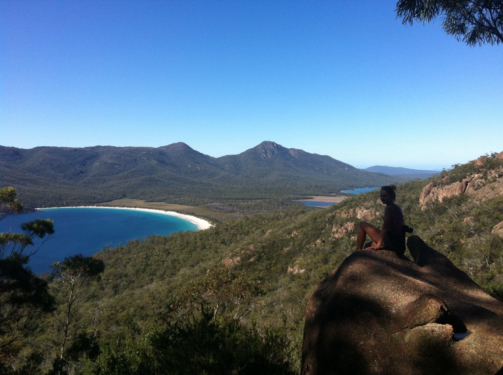 vue sur wineglass bay